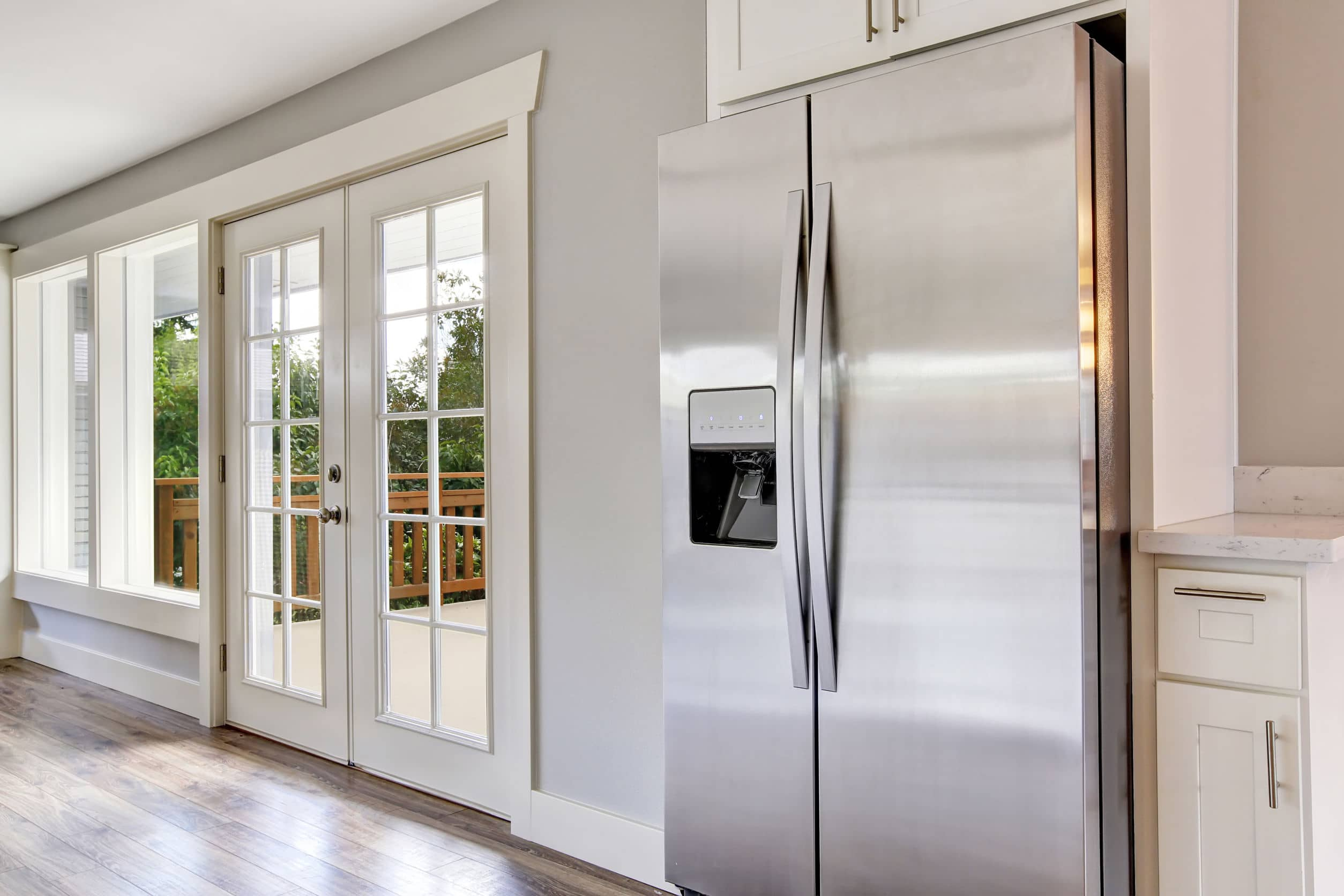 Refrigerator in a home kitchen
